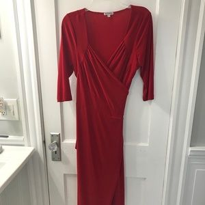 Kiyonna red wrap dress size 0